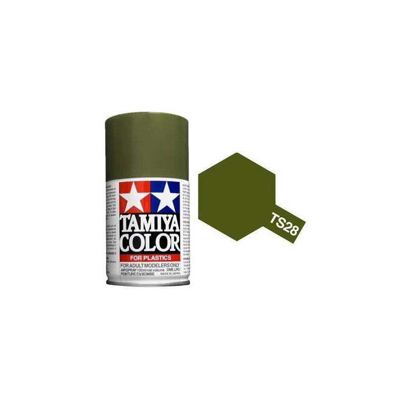 85028 Tamiya. Spray TS-28 Verde Oliva 2 Pintura Esmalte