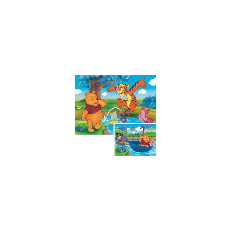 89703. Puzzle Ravensburger 2x20 piezas, Pooh: Jugando en el Agua