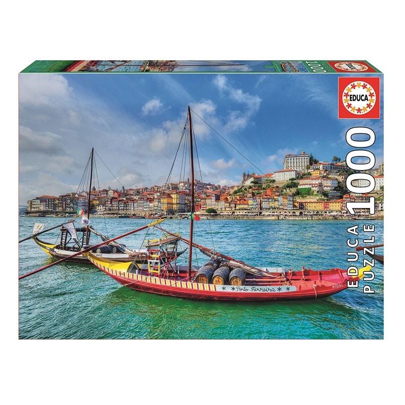 17196 Educa. Puzzle 1000 Piezas Barcos Rabelos de Oporto
