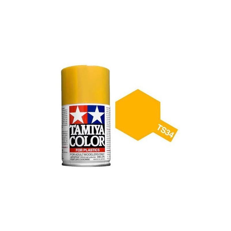 85034 Tamiya. Spray TS-34 Amarillo Caramelo Pintura Esmalte
