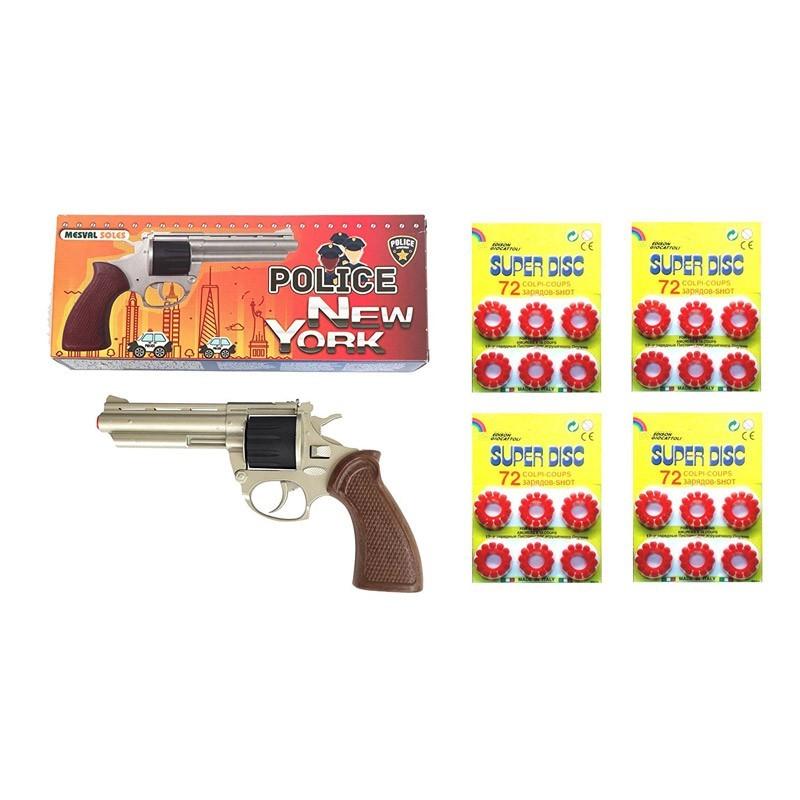 Revolver metálico de Fulminantes Policía New York 64823/63863x4ud