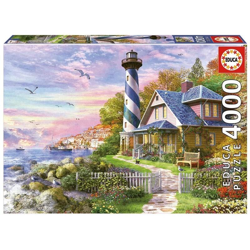 17677 Educa. Puzzle 4000 Piezas Faro en Rock Bay
