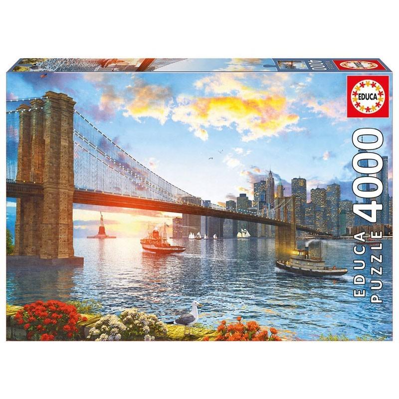 16782 Educa. Puzzle 4000 Piezas Puente de Brooklyn de Nueva York