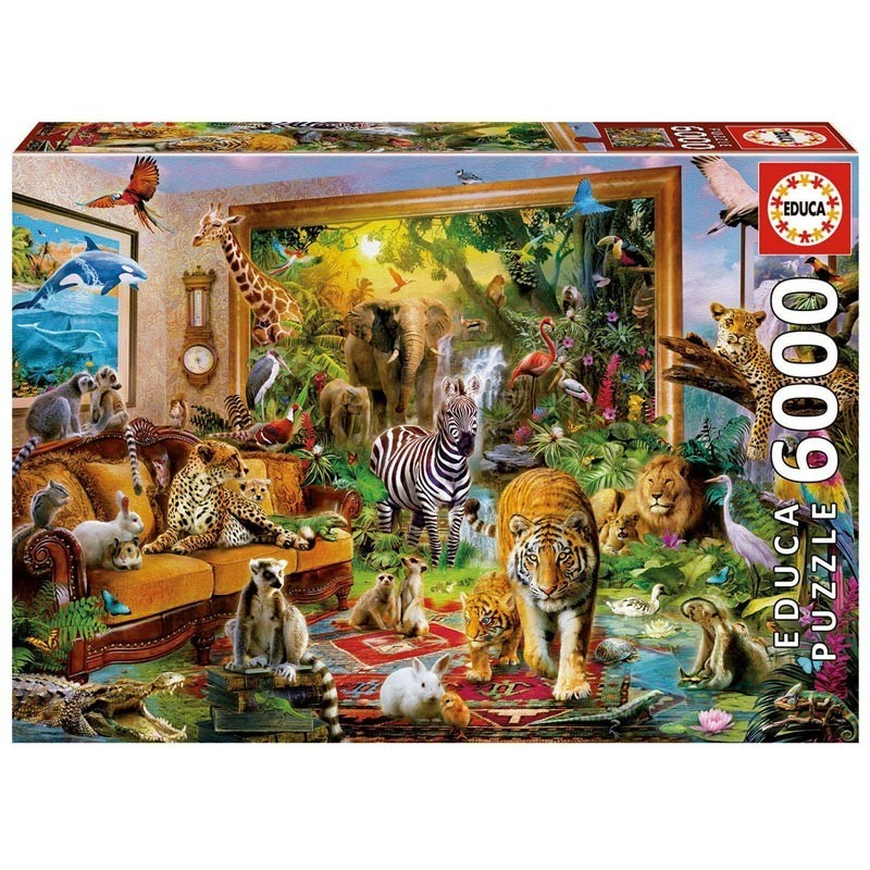 17679 Educa. Puzzle 6000 Piezas Entrando en la Habitación