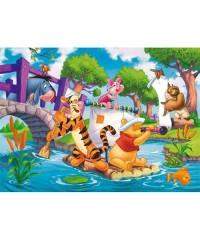 23536.Puzzle Clementoni 104pzs, Maxi Winnie the Pooh:Los Piratas
