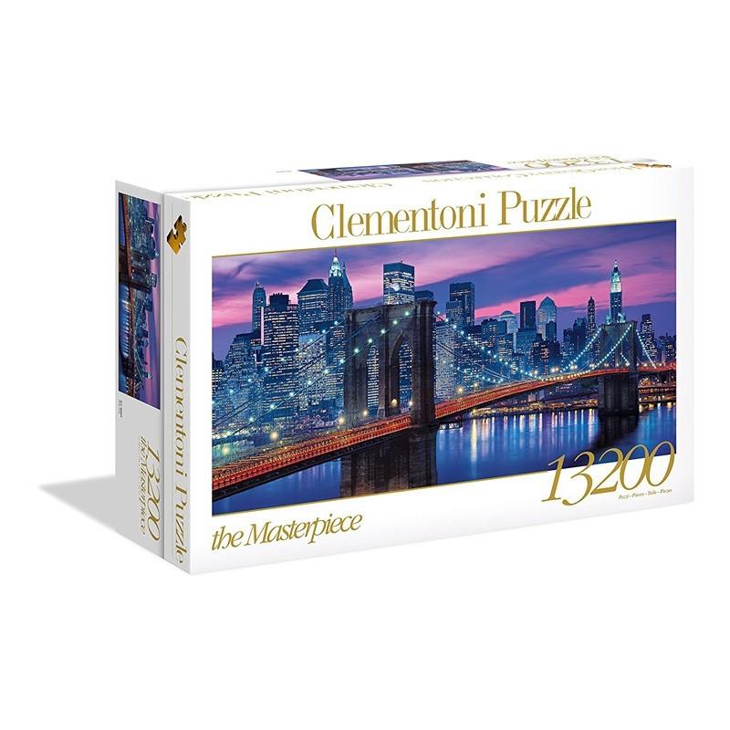 38009 Clementoni. Puzzle 13200 Piezas Puente de Brooklyn de Noche