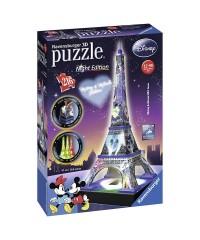 12520 Ravensburger. Puzzle 3D Torre Eiffel Disney Nigh Edition