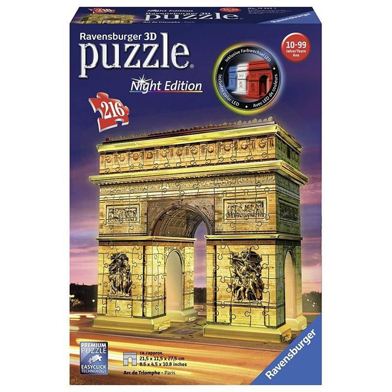 12522 Ravensburger. Puzzle 3D Arco del Triunfo 216 Piezas