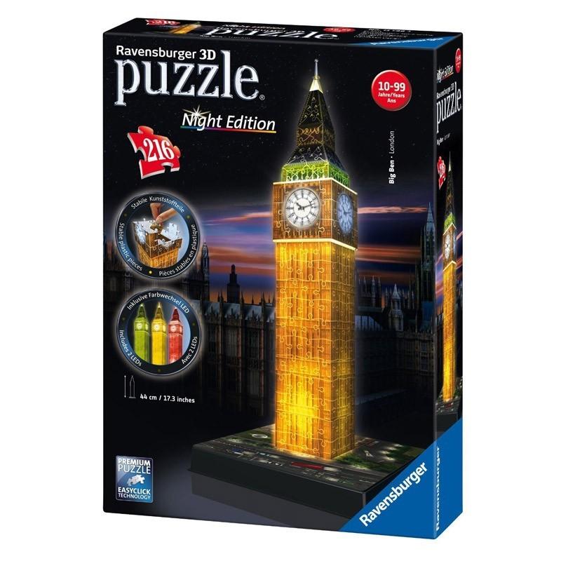 12588 Ravensburger. Puzzle 3D Big Ben Nigh Edition 216 Piezas