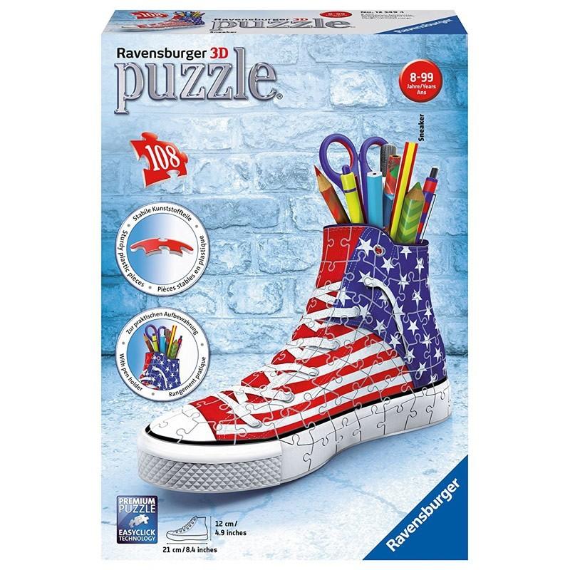 12549 Ravensburger. Puzzle 3D Sneaker Estados Unidos 108 Piezas