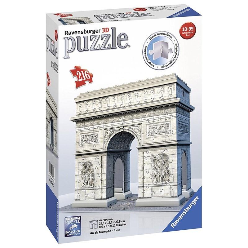 12514 Ravensburger. Puzzle 3D Arco del Triunfo de París