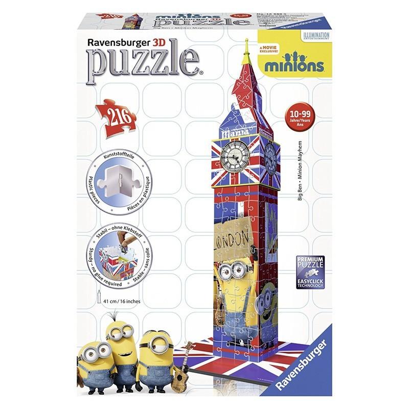 12589 Ravensburger. Puzzle 3D Big Ben Minions