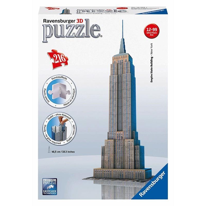 12553 Ravensburger. Puzzle 3D Empire State Building 216 Piezas
