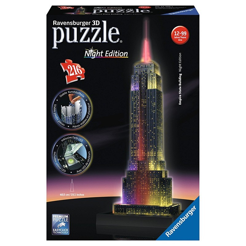 12566 Ravensburger. Puzzle 3D Empire State Night Edition 216 Piezas