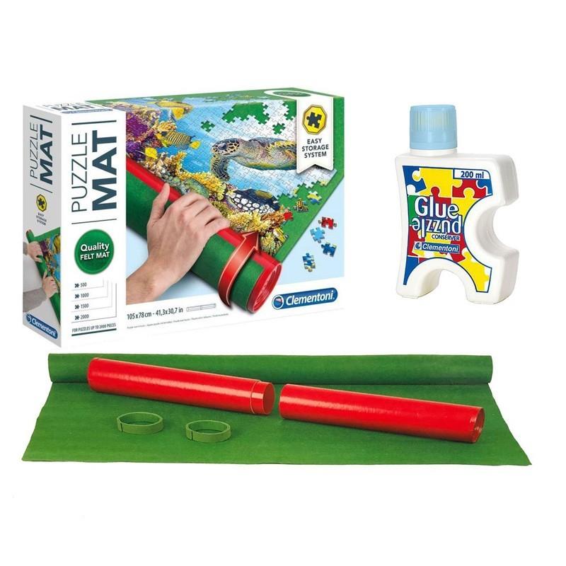 30297/30300 Clementoni. Puzzle Roll + Pegamento 500-2000 Pzs