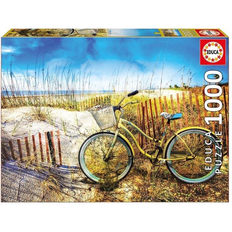 Educa 17657. Puzzle 1000 Piezas Bicicleta en las dunas