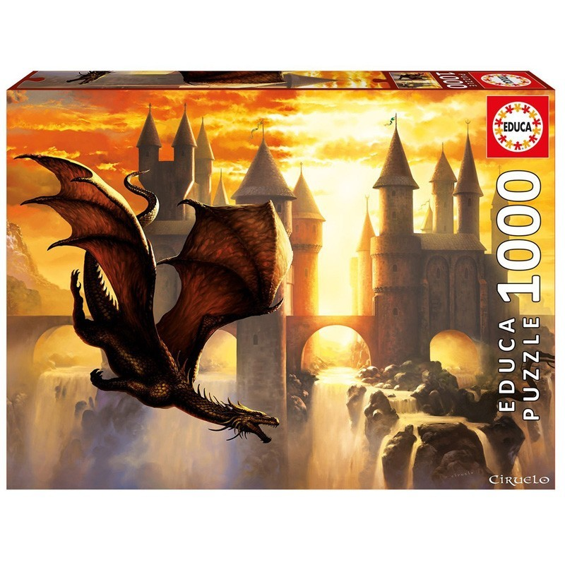Educa 17312. Puzzle 1000 Piezas Sunset Dragon