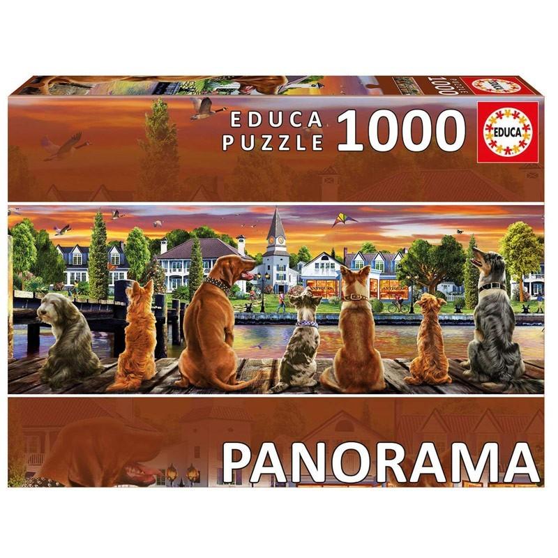 Educa 17689. Puzzle 100 Piezas Perros en el embarcadero Panorama