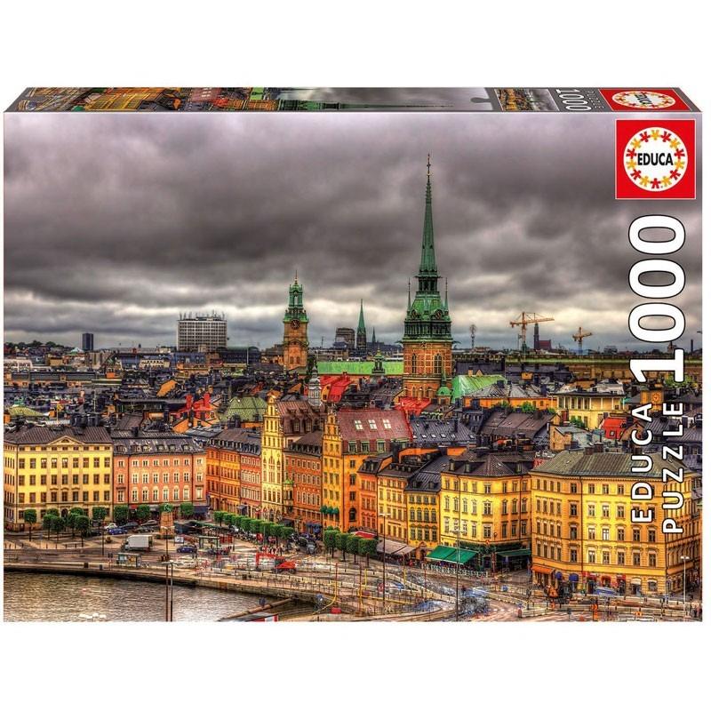 Educa 17664. Puzzl 1000 Piezas Vistas de Estocolmo Suecia