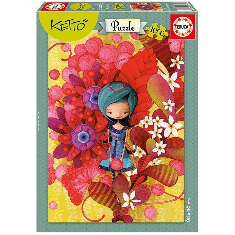 Educa 16762. Puzzle de 1000 Piezas Blue Lady Ketto.
