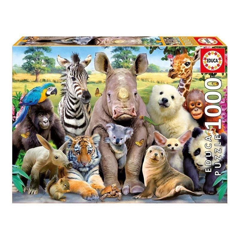 Educa 15517. Puzzle 1000 Piezas Animales Foto de Clase