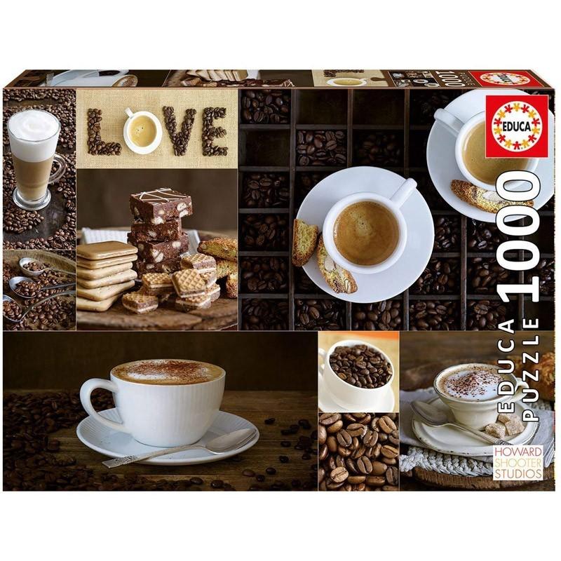 Educa 17663. Puzzle 1000 Piezas Love Café
