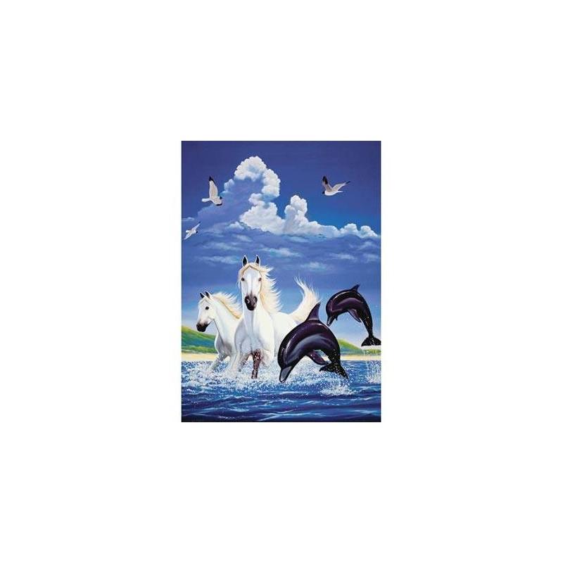 10139. Puzzle Trefl 1000 piezas Delfines y Corceles