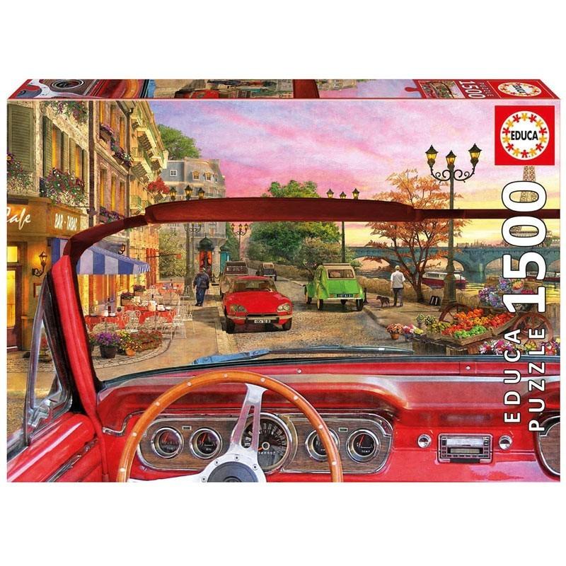 Educa 16768. Puzzle 1500 Piezas París desde el coche