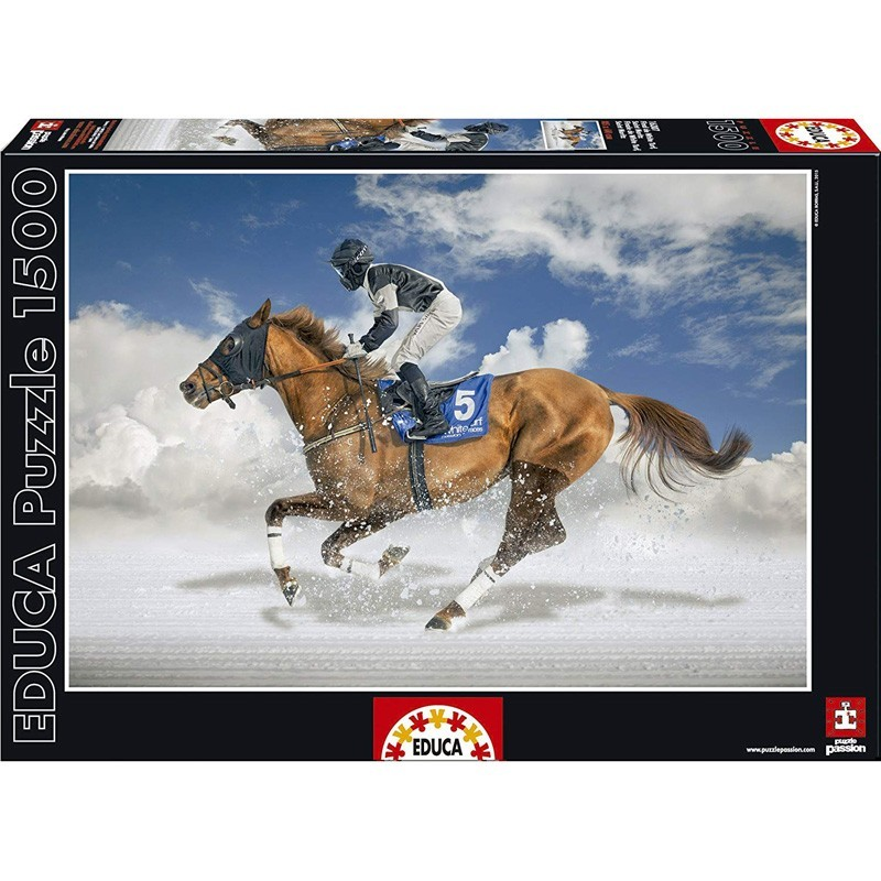 Educa 16307. Puzzle 1500 Piezas Final De White Turf Saint Moritz