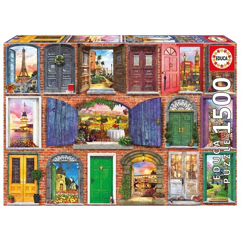 Educa 17118. Puzzle 1500 Piezas Puertas de Europa