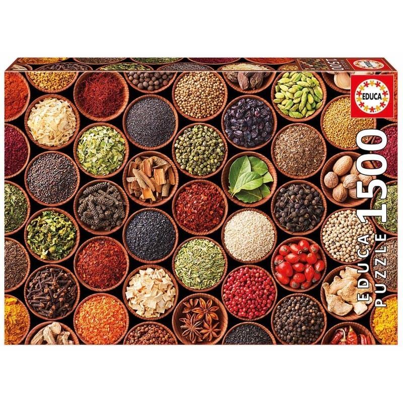 Educa 17666. Puzzle 1500 Piezas Especias y Condimentos