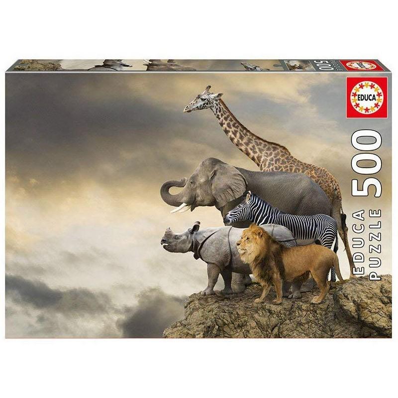 Educa 16737. Puzzle 500 Piezas Animales al borde del abismo