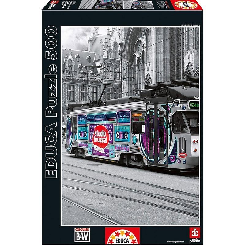 Educa 16358. Puzzle 500 Piezas Tranvía de Gante Bélgica