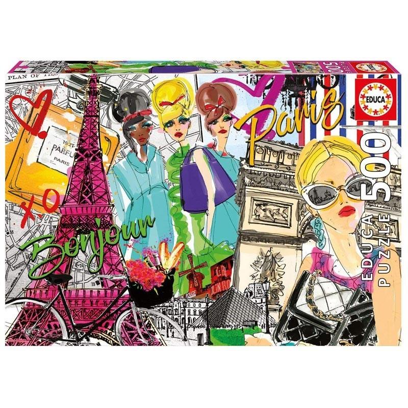 Educa 17650. Puzzle 500 Piezas Llévame a París