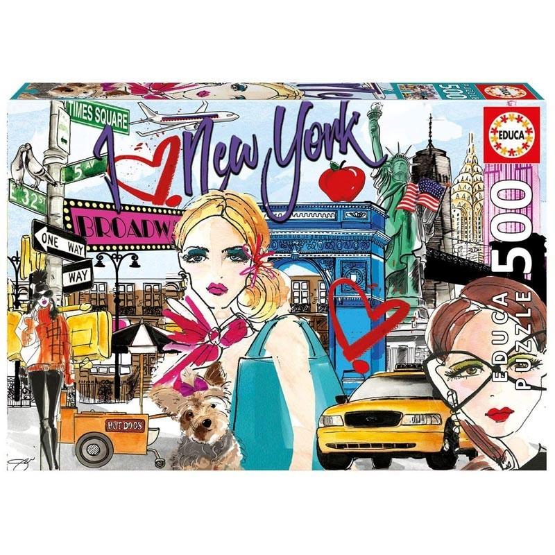Educa 17649. Puzzle 500 Piezas Llévame a Nueva York