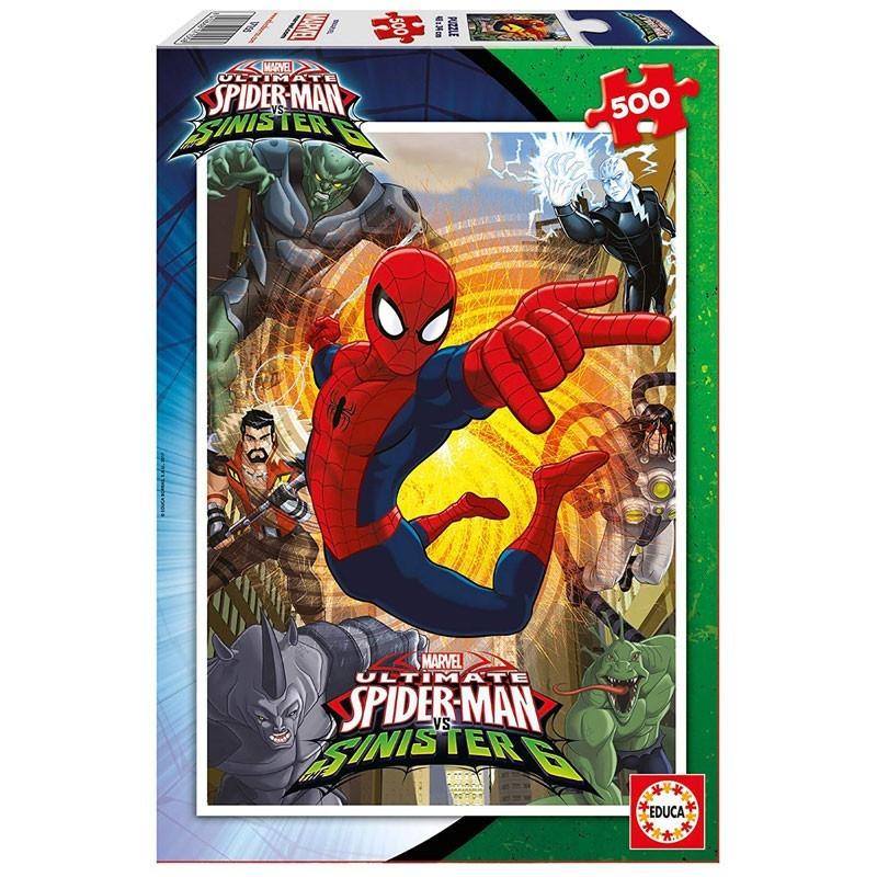 Educa 17155. Puzzle 500 Piezas Spiderman VS Sinister 6
