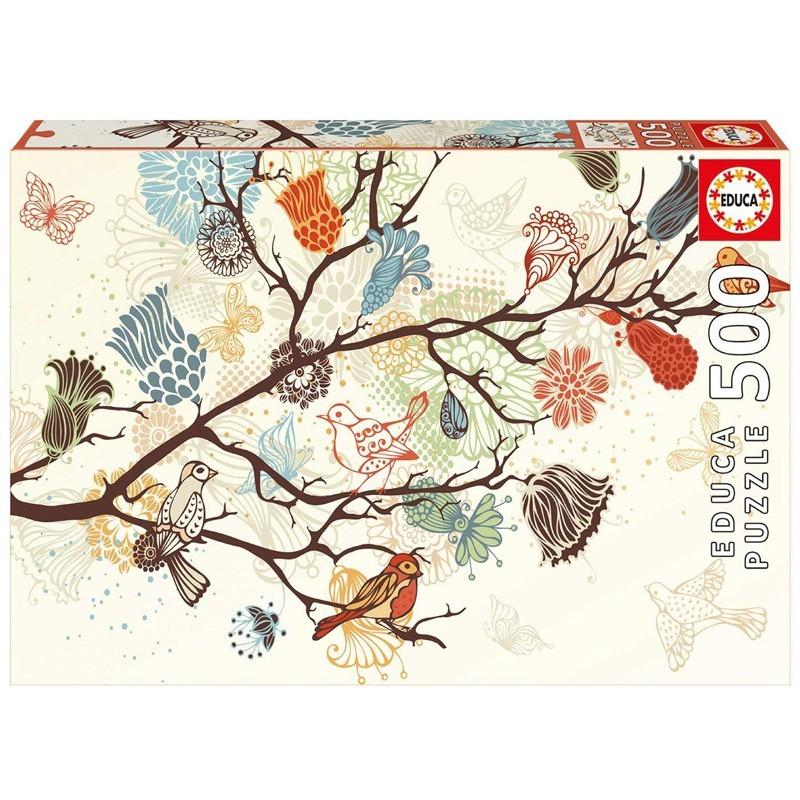 Educa 17646. Puzzle 500 Piezas Composición Floral