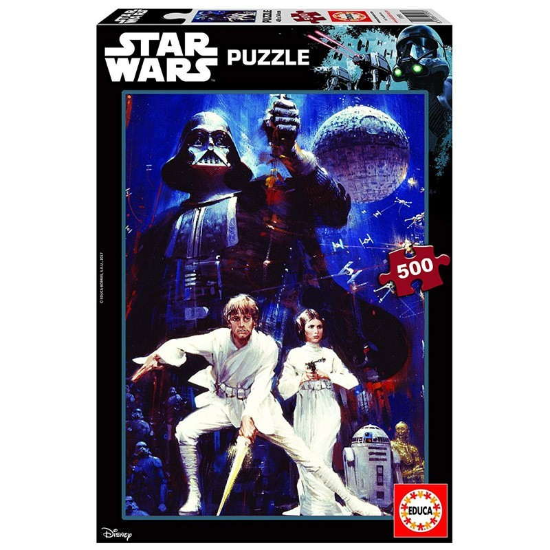 Educa 17093. Puzzle 500 Piezas Star Wars IV Una Nueva Esperanza