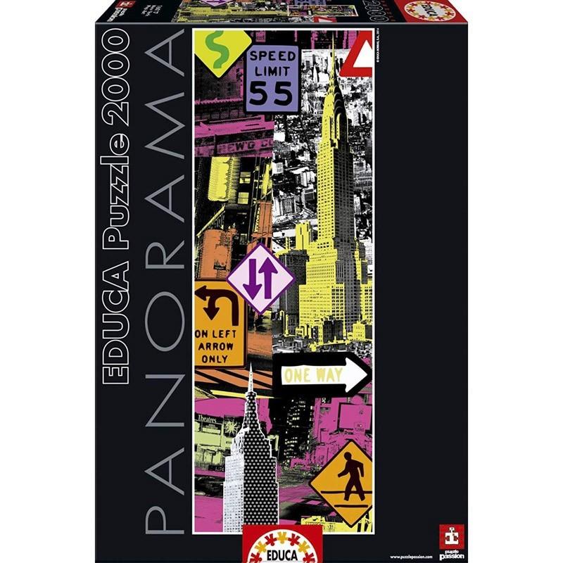 Educa 16017. Puzzle 2000 Piezas New York Pop Art Panorama