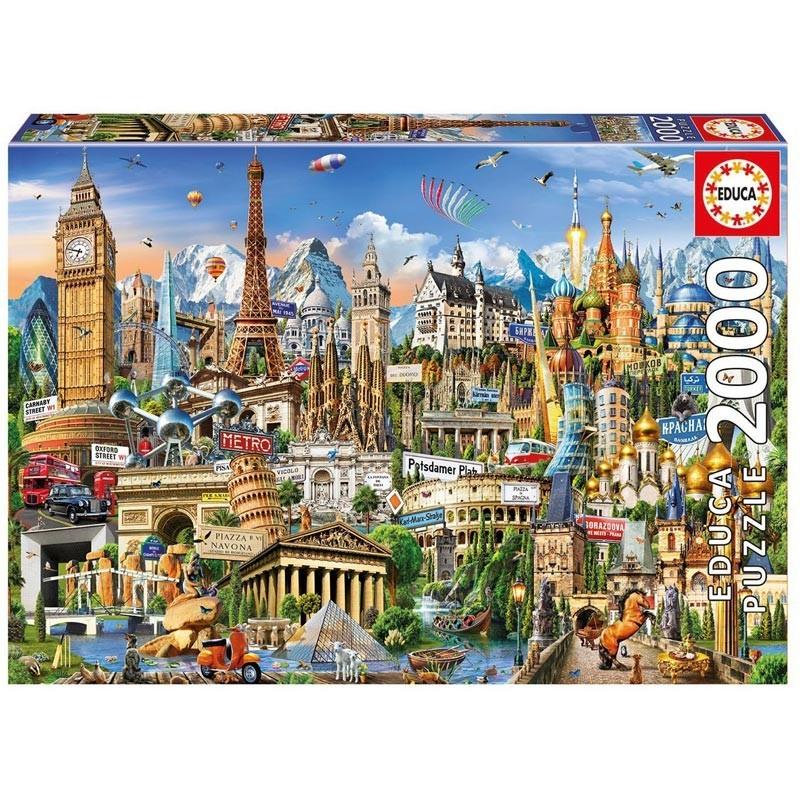 Educa 17697. Puzzle 2000 Piezas Símbolos de Europa