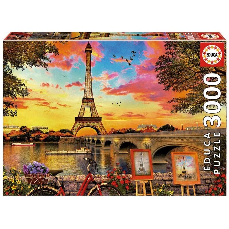 Educa 17675. Puzzle 3000 Piezas Puesta de sol en París