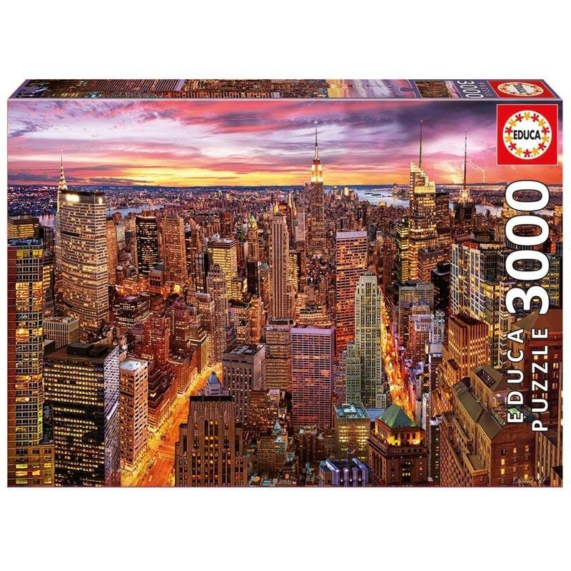 Educa 17131. Puzzle 3000 Piezas Vistas de Manhattan