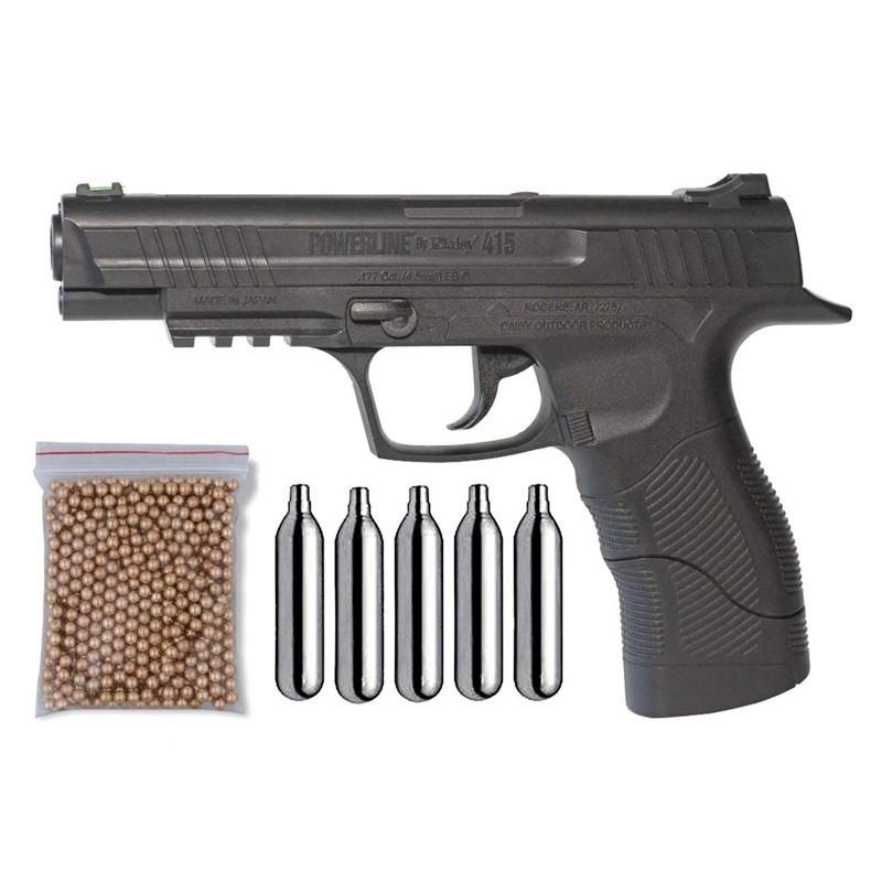 Pack Pistola Perdigón Daisy 415 Cal. 4.5mm BB 19947/38123/29318