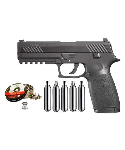 Pack Pistola Perdigón Sig Sauer P320 Cal. 4.5mm 22246/38203/29318