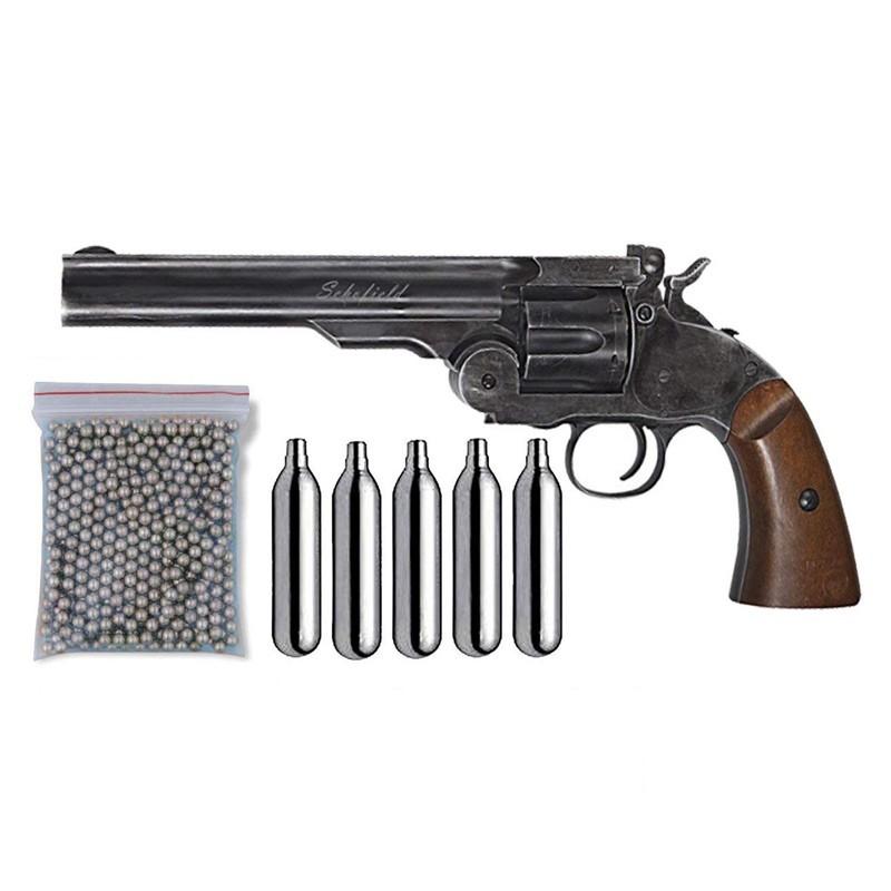 Pack Revólver Perdigón Schofield 6 pulgadas Cal.4.5mm 17408/38123/29318