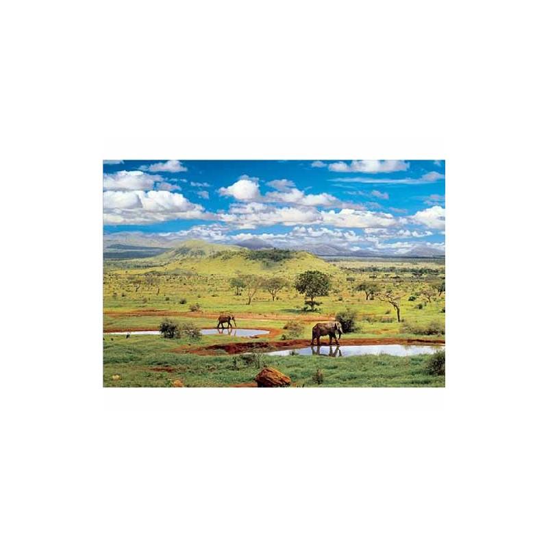10167. Puzzle Trefl 1000 piezas Parque Nacional Tsavo West,Kenia