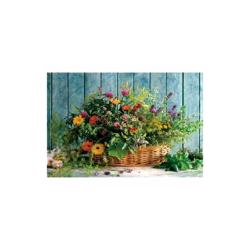 10128. Puzzle Trefl 1000 piezas Cesta de Flores