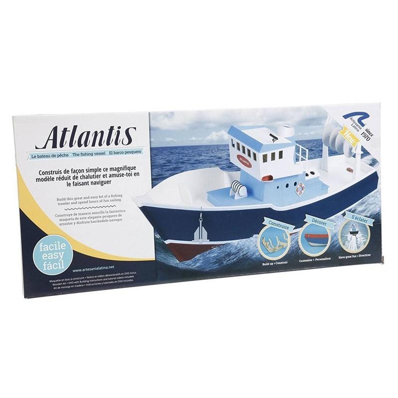 30531 Artesanía Latina. 1/15 Pesquero Atlantis + Herramienta