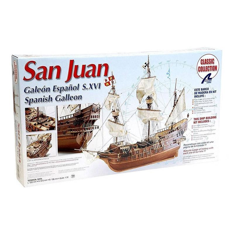 18022 Artesanía Latina. 1/30 Galeón San Juan + Herramienta