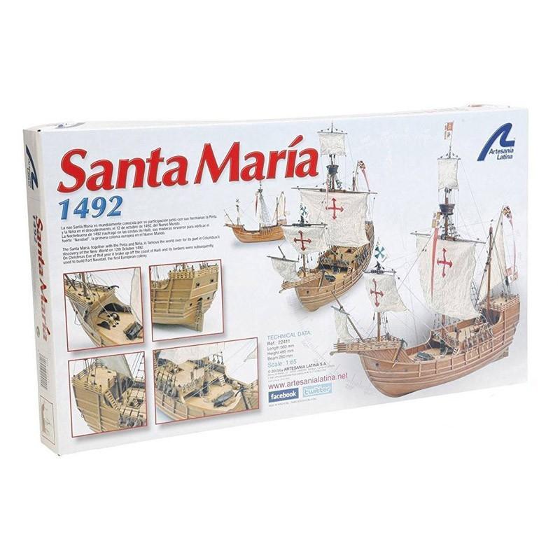 22411 Artesanía Latina. 1/65 Nao Santa María 1492 + Herramienta